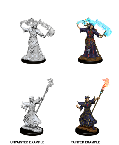 Male Human Sorcerer: Pathfinder Battles Unpainted Miniatures